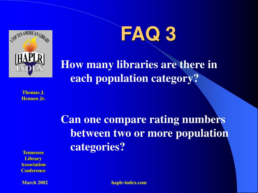 FAQ 3