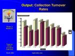 output collection turnover rates