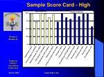 sample score card high
