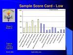 sample score card low