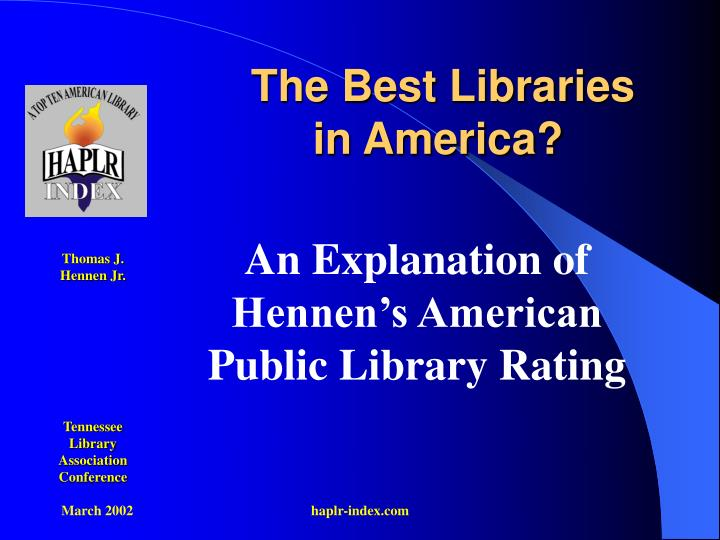 The best libraries in america