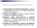 proyectos de digitalizaci n realizados