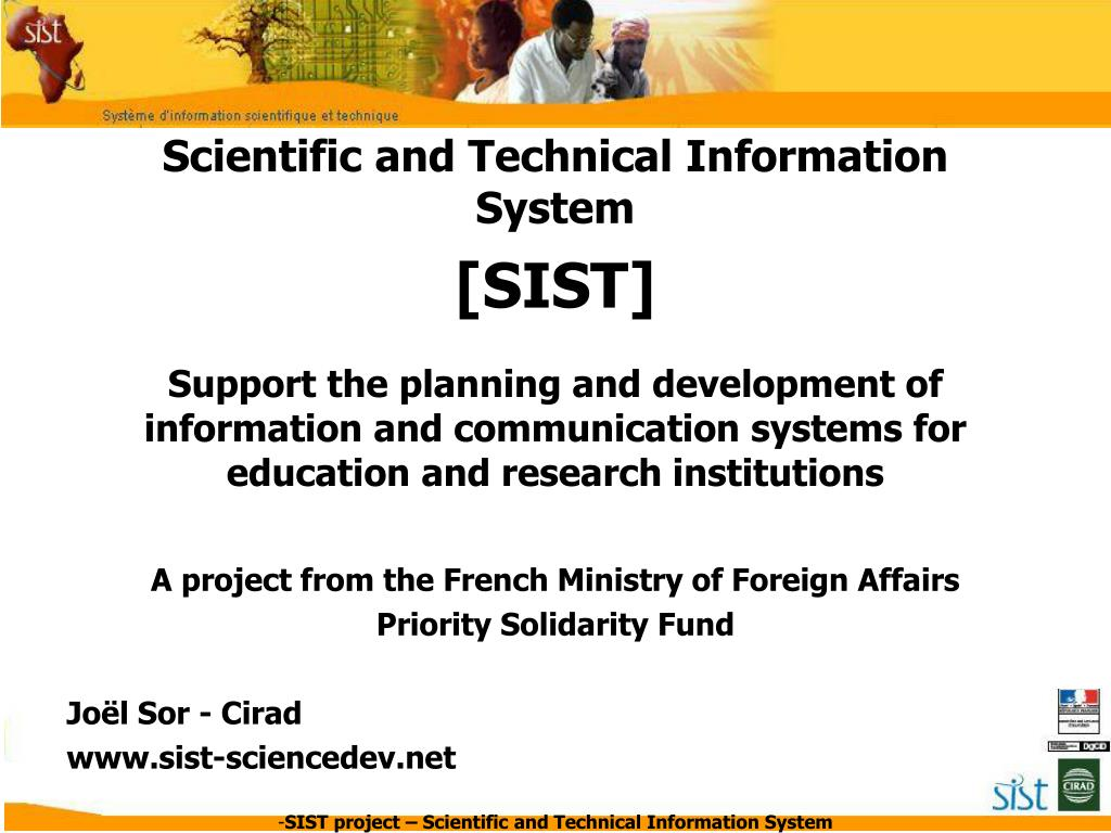 scientific and technical information system l.
