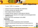 sist objectives