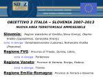 obiettivo 3 italia slovenia 2007 2013 nuova area territoriale ammissibile