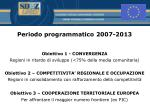 periodo programmatico 2007 2013