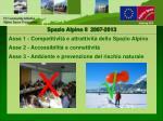 spazio alpino ii 2007 201330