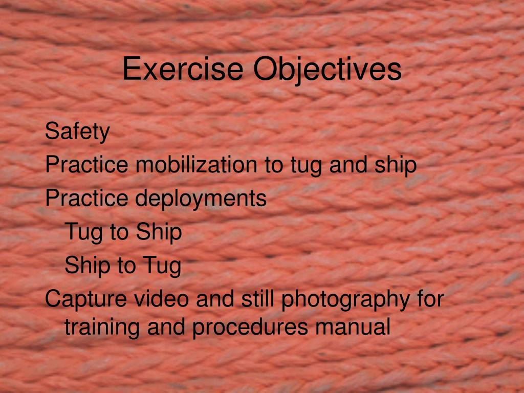 Exercise Objectives