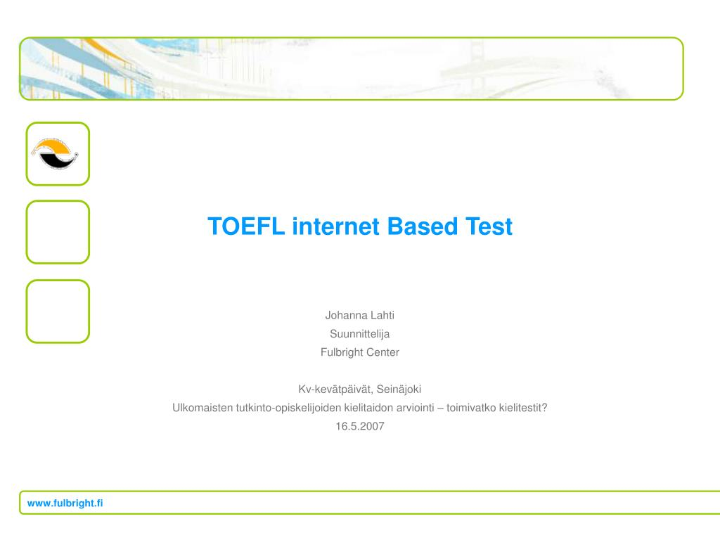 toefl internet based test l.