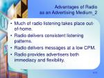 advantages of radio as an advertising medium 2