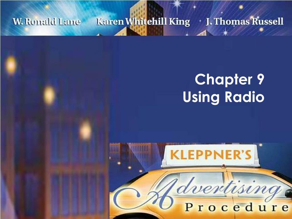 chapter 9 using radio l.