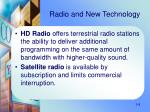 radio and new technology