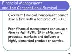 financial management and the corporation s survival