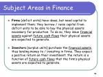 subject areas in finance10