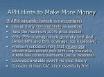 aph hints to make more money