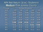aph net return ac soybeans medium risk juneau county