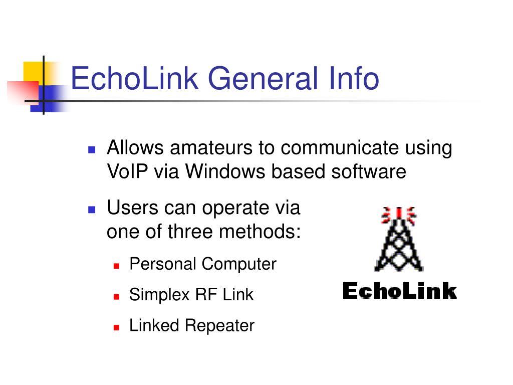 EchoLink General Info