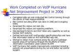 work completed on voip hurricane net improvement project in 2006