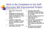 work to be completed on the voip hurricane net improvement project