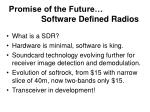 promise of the future software defined radios