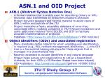 asn 1 and oid project