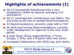 highlights of achievements i