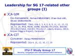 leadership for sg 17 related other groups i