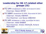 leadership for sg 17 related other groups ii