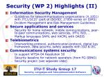 security wp 2 highlights ii