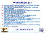 workshops i