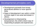 developmental principles cont