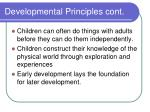 developmental principles cont23