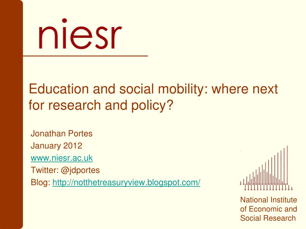 education and social mobility where next for research and policy l.