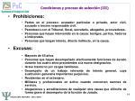 condiciones y proceso de selecci n iii