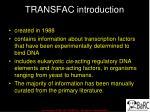 transfac introduction