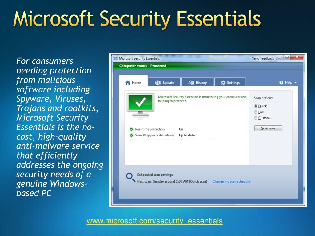 PPT - Microsoft Security Essentials Security Intelligence