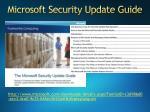 microsoft security update guide