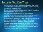security you can trust