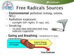 free radicals sources