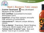 mark s business take aways