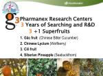 pharmanex research centers