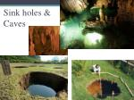 sink holes caves