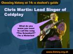 chris martin lead singer of coldplay