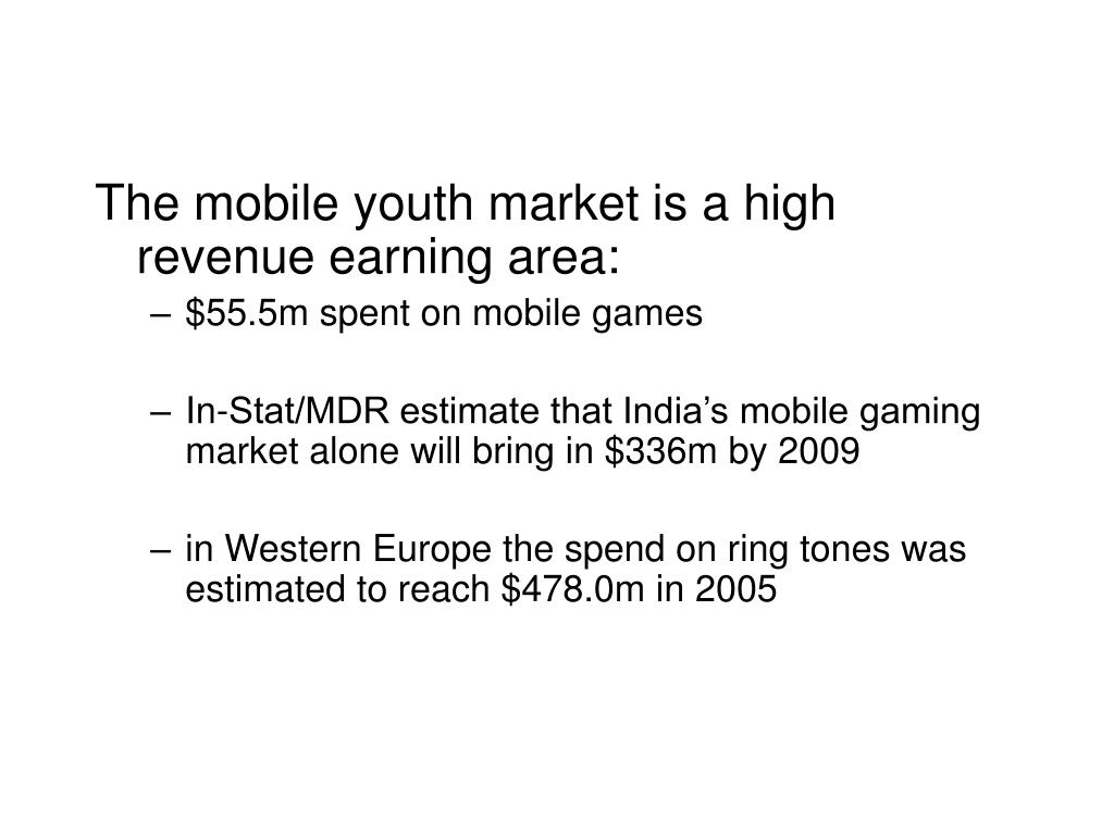 The mobile youth market