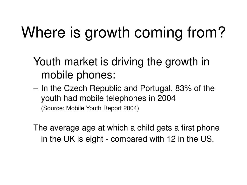 Where is growth coming from?
