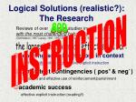 logical solutions realistic the research