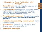 ec support to trade facilitation key principles