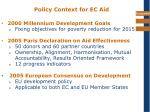 policy context for ec aid