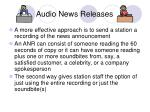 audio news releases