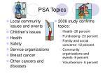 psa topics